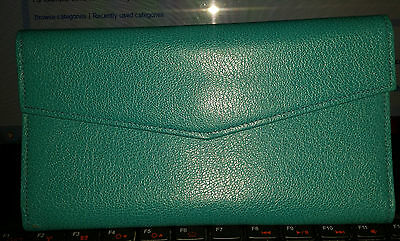 St. Thomas Honey Kid Vintage Leather Wallet Turquoise