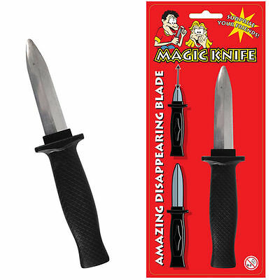 19 cm FANCY DRESS HALLOWEEN TRICK OR TREAT TRICK DAGGER WITH RETRACTABLE BLADE
