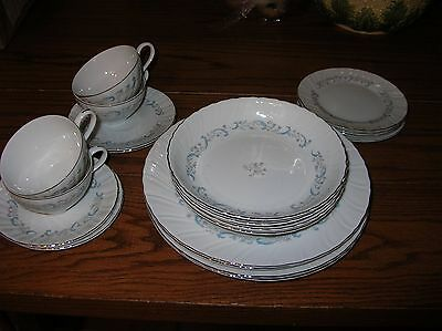 """Lot of FOUR Camelot China """"Gracious"""" 1990 -  5 Piece Place settings 20 pieces!!"""