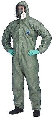 5 X Pack DuPont CHF5 Classic Xpert Men Disposable Coverall Cat III Overall Green