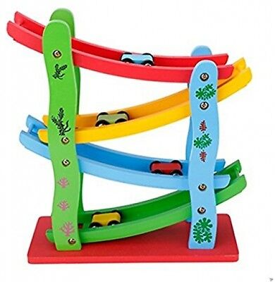 Wooden Ladder Gliding Car Learning Toy Baby Educational Kids Developmental Game