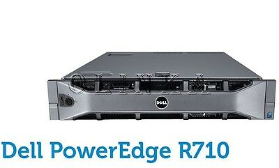 Dell Poweredge R710 6 Bay Server Dual Quad Core Xeon X5570 32Gb Perc H700 Raid