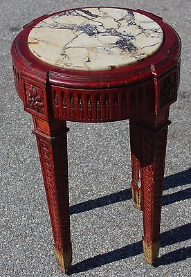 French Painted Louis XIV Gueridon Table with Marble Top