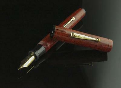 LeBoeuf, 75 Unbreakable Fountain Pen Cocobolo w/Goldfill Trim