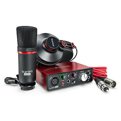 Focusrite Scarlett Solo Studio 2nd Gen Recording Bundle Pack w/ Pro Tools