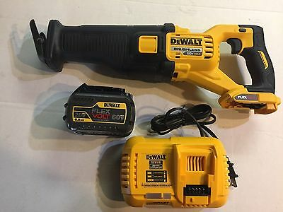"Dewalt 60 volt max Lithium Brushless Flex volt DCS388 4 1/2-6"" Sawzall kit"