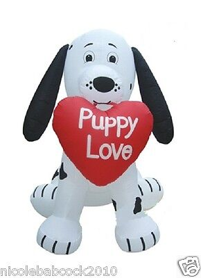 Valentine's Day Heart Puppy Dog Lighted Airblown Inflatable Yard Decor