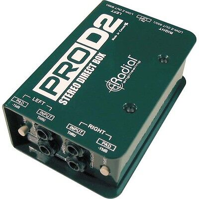 Radial Pro D2 Passive 2 Channel Stereo Direct Box