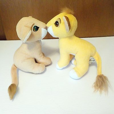 Lion King Kissing Simba & Nala Disney's Plush Toys Vintage 1993