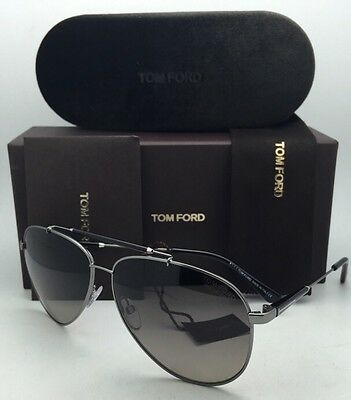 c4078634efa Polarized TOM FORD Sunglasses RICK TF 378 10D 62-13 Gunmetal+Black Frames w