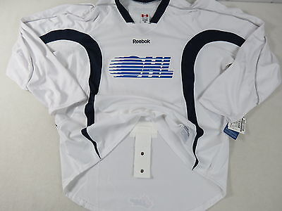 New White Reebok Team Issued OHL Pro Stock Hockey Player Practice Jersey 56 CHL