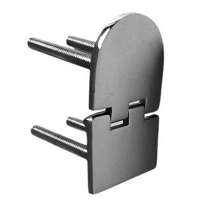 316 Stainless Steel Yacht Marine Hinge Screw 70*40mm Sliver