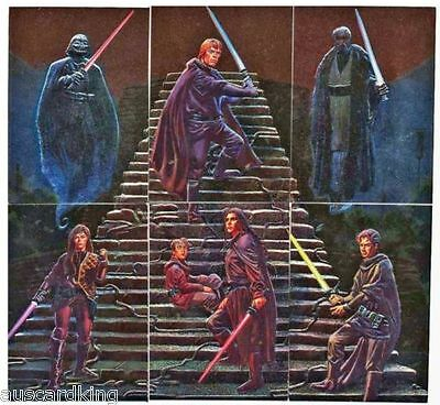 Star Wars - Finest - Complete Foil Chase Card Set (6) - TOPPS 1996 - NM