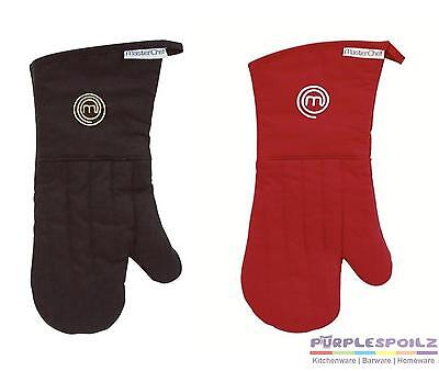 NEW MASTERCHEF OVEN GLOVE Master Chef Pot Mitt Cook Kitchen Cotton BLACK RED