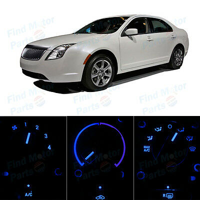 Blue AC Climate Control Heater Temperature Bulbs LED Lights for Milan 06-08