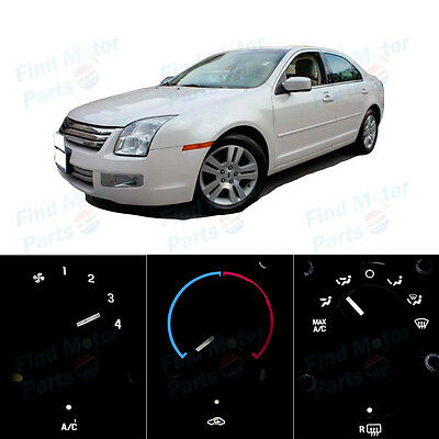 White AC Climate Control Heater Temperature Bulbs LED Lights for Fusion 06-09