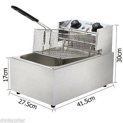 Commercial Electric Deep Fryer Frying Single Basket Chip Cooker Fry 10L NEW