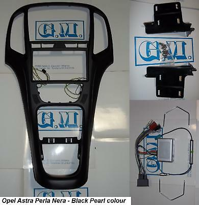 Panel complete kit Double 2 DIN Opel Astra J Black with commands steering wheel