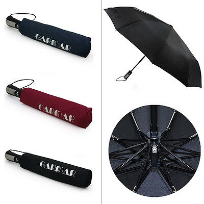 Automatic Folding Umbrella Compact 10 RIB Windproof GARMAR 10 Fiberglass Frames