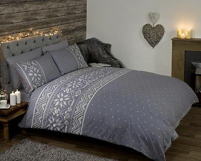 Nordic - Double - Grey Duvet Cover