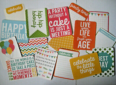 """'SPRINKLES' PROJECT LIFE CARDS BY KAISERCRAFT -  pack of 16 - 3"""" x 4"""""""