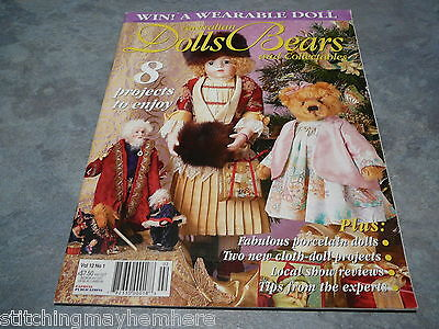 Australian Dolls, Bears and Collectables Vol. 12 No. 1 cloth doll projects