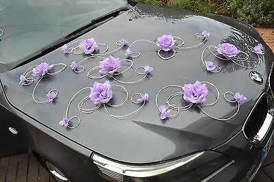 wedding car decoration, ribbon , bows, prom limousine decoration XXL excl purple