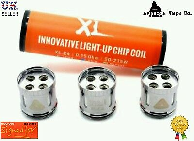 Authentic IJOY Limitless  XL-C4 light-Up Chip Coils (0.15ohm 50-215W) Rec Del