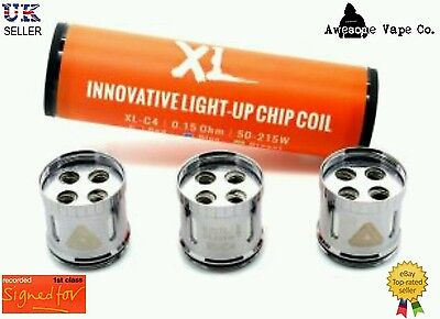 IJOY Limitless  XL-C4 light-Up Chip Coils Authentic (0.15ohm 50-215W) Rec Del