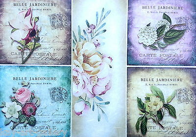 Rice Paper for Decoupage Decopatch Scrapbooking Sheet Craft Vintage Flowers L