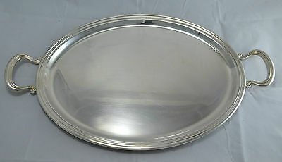 N8724s MAGNIFICO VASSOIO TRAY OVALE IN SILVER PLATED OLRI