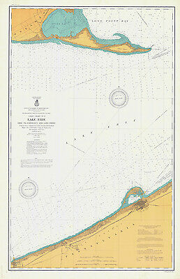 1904 Nautical Map of Presque Isle to Conneaut & Long Point Lake Erie