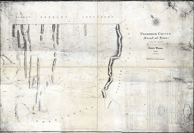 1820 Map of Frederick County Virginia