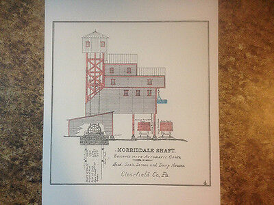 Morrisdale Shaft Clearfield County Pa 1896 Drawing Reproduction