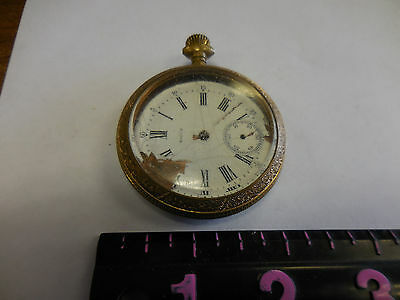 ANTIQUE  SWISS POCKET WATCH VALLON--doesn't work as is #78369