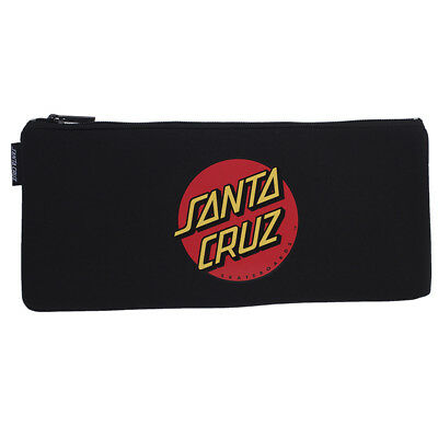 Santa Cruz Big Dot Pencil Case in Black