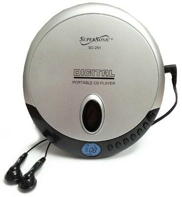 Supersonic SC251 Portable Slim CD Player. Free Delivery