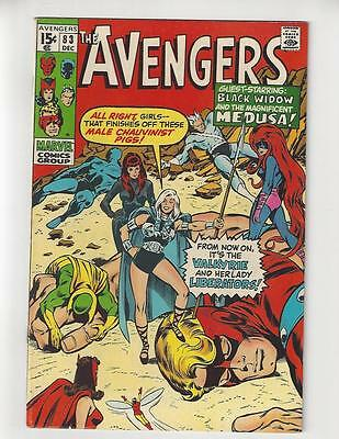 The Avengers #83/Bronze Age Marvel Comic Book/1st Valkyrie/FN-VF