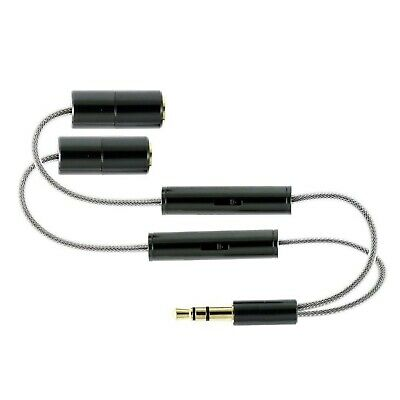 BattleBorn 3.5mm Headphone Stereo Y Splitter Cable with Separate Volume Controls