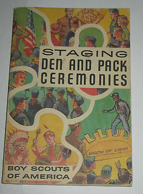 Boy Scouts of America BSA Staging Den and Pack Ceremonies - 1973 Printing