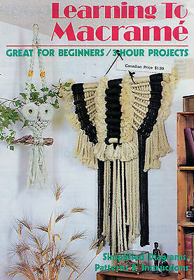 Macrame Book Learning to Macrame Wall Hanging Owl Towel Rack Plant Hangers