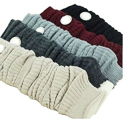 Luckystaryuan  Prime Day Sale!! Women Set of 3 Wool Knit Leg Warmer Boot Socks