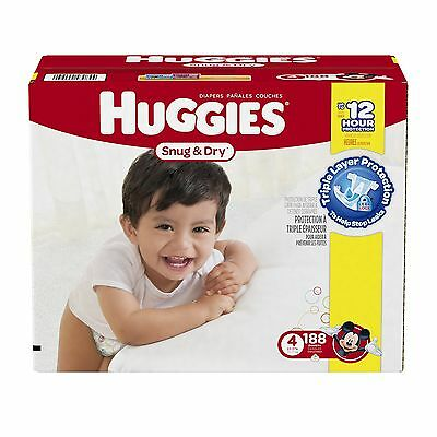 Huggies Snug and Dry Diapers Step 4 Economy Plus 188-Count Size 4