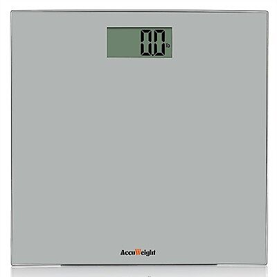 Accuweight Digital Body Weight Bathroom Scale 400lb/180kg Gray