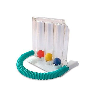 HealthAndYoga(TM) Deep Breathing Lung Exerciser | 3-chamber Incentive Spirome...