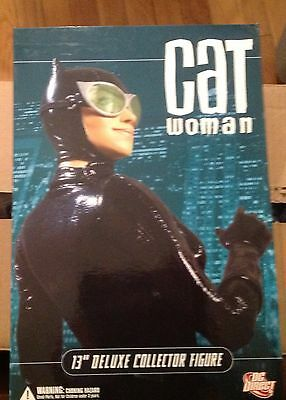 "DC Direct DC Comics - 13"" CatWoman  Deluxe Collector Figure New in Original Box"