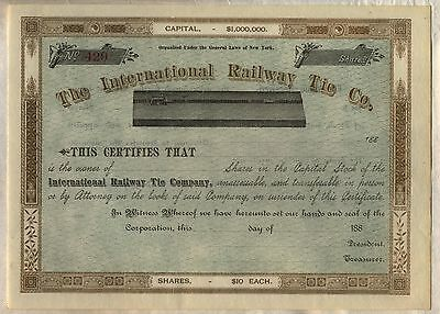 Stock Certificate New York MIddletown /& Crawford Railroad Co