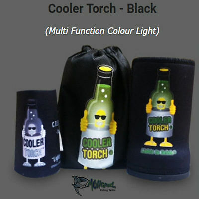 NEW 6 PACK BLACK Cooler BEAM Stubby Cooler Torch's-MATES PACK Fishing Camping
