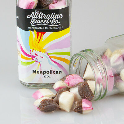 1kg Neapolitan Rock Candy bulk boiled lollies - Wedding Favours Party