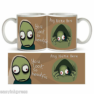 SALAD FINGERS PERSONALISED Ceramic Mug Cup Tea Coffee Rusty Any Name Drink Gift